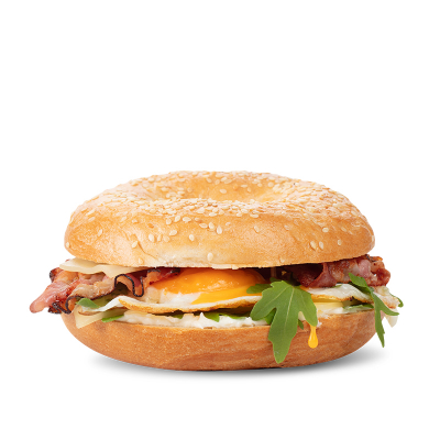 Bacon bagel