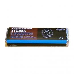 Čokoládová tyčinka s nugátovou náplní
