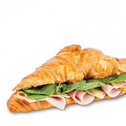 Plněný croissant se šunkou a sýrem