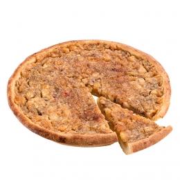 Křehký jablečný koláč s ořechy